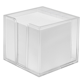 Notepad box, double-walled with organizer