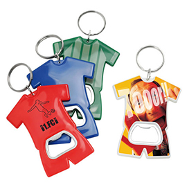 Bottle opener in soccer jersey design