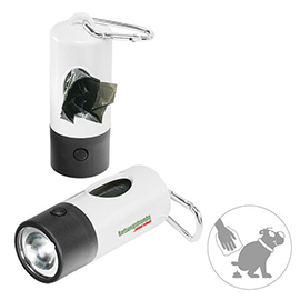 Garbage case with torch, 1 LED (white)